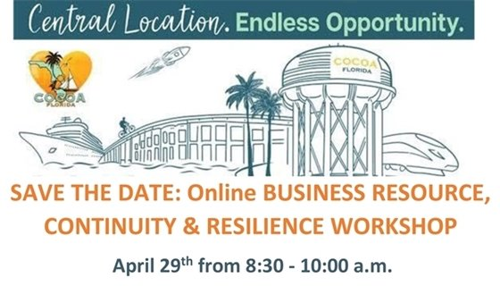 Online Business Resource, Continuity & Resilience Workshop, April 29th from 8:30-10am