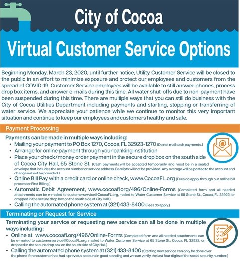 Ways to utilize virtual utility customer services