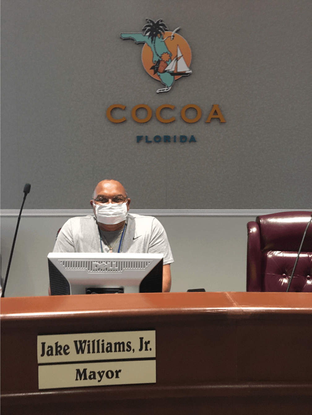 Mayor Jake Williams with Face Mask